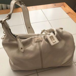 The SAK white leather hobo bag
